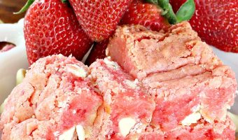 Strawberry White Chocolate Gooey Bars