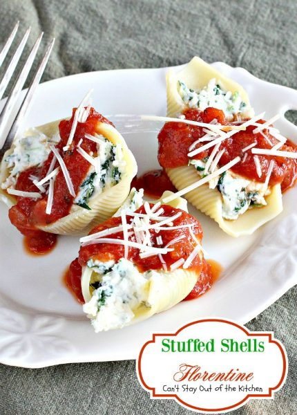 Stuffed Shells Florentine | Can't Stay Out of the Kitchen