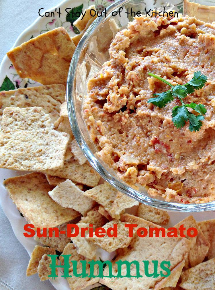 Sun-Dried Tomato Hummus - Can't Stay Out of the Kitchen