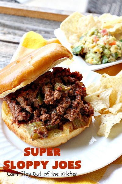 Super Sloppy Joes | Can't Stay Out of the Kitchen | these amazing #sloppyjoes are quick, easy & delicious for weeknight dinners. #beef #sandwiches