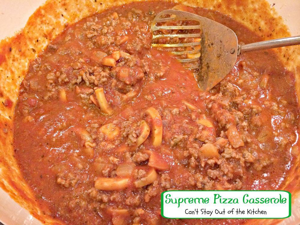 Supreme Pizza Casserole Recipe — Dishmaps