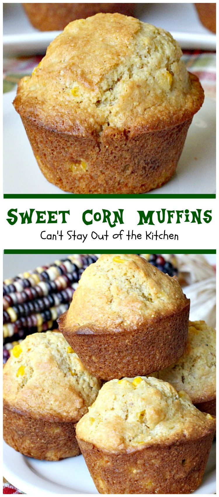 Sweet Corn Muffins are festive, beautiful and delicious for any ...