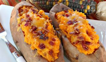 Sweet Potato Bacon Boats