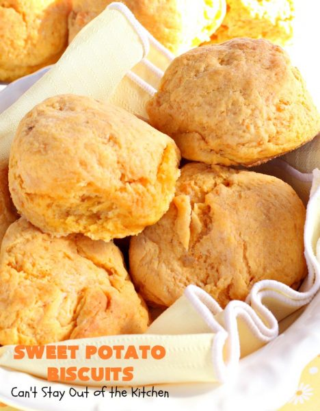 Sweet Potato Biscuits | Can't Stay Out of the Kitchen | fantastic #PaulaDeen #Biscuit #recipe that puffs up nicely & tastes heavenly. Perfect #SideDish for company or #holiday meals. We also enjoy these #biscuits for #Breakfast! #HolidayBreakfast #HolidaySideDish #EasterBreakfast #EasterSideDish #MothersDayBreakfast #MothersDaySideDish #SweetPotatoBiscuits #PaulaDeenSweetPotatoBiscuits #BestHomemadeBiscuitsRecipe
