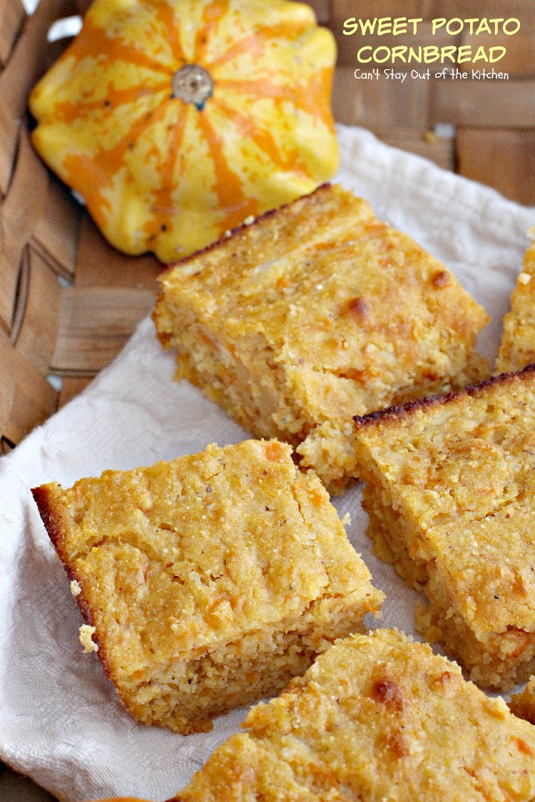 Sweet Potato Cornbread | Can't Stay Out of the Kitchen | a tasty ...
