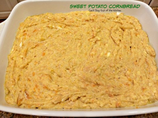 Sweet Potato Cornbread | Can't Stay Out of the Kitchen | a tasty, savory #cornbread made with #sweetpotatoes and #honey. #cleaneating #glutenfree