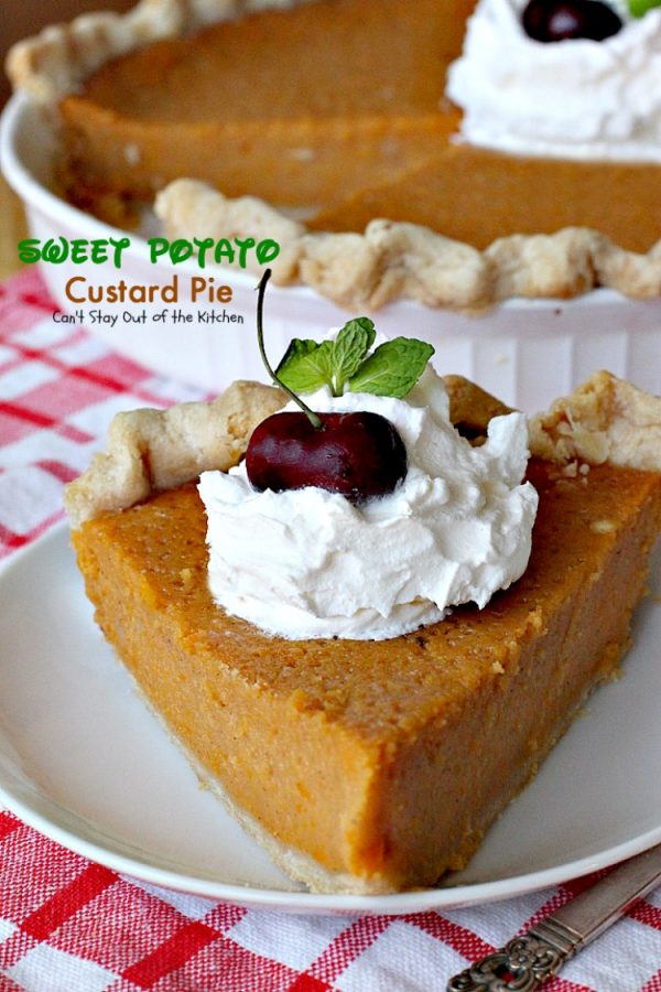 Sweet Potato Custard Pie | Can't Stay Out of the Kitchen