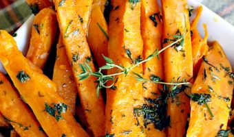 Sweet Potato Fries with Garlic Herb Sauce