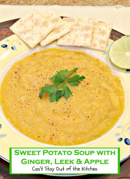 Sweet Potato Soup with Ginger, Leek and Apple - Recipe Pix 13 387