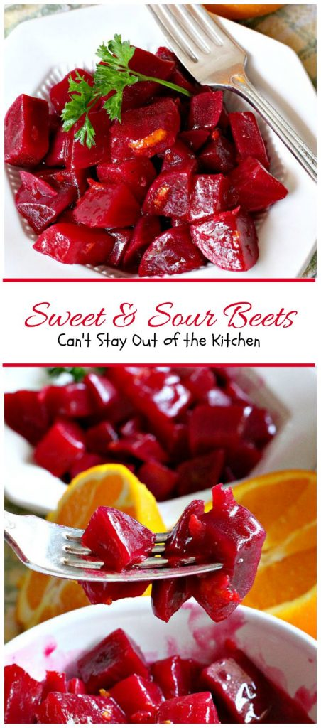 Sweet & Sour Beets | Can't Stay Out of the Kitchen