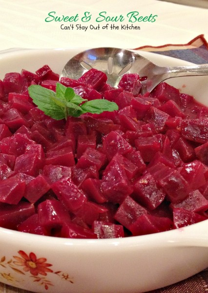 Sweet and Sour Beets | Can't Stay Out of the Kitchen | this is an amazing #beets recipe. #orange zest makes it special. Great as a #holiday #sidedish. #glutenfree #vegan