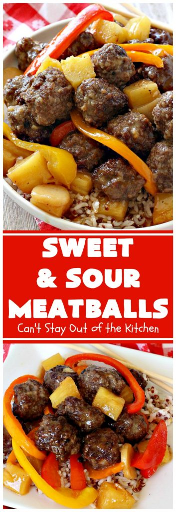 Sweet and Sour Meatballs | Can't Stay Out of the Kitchen