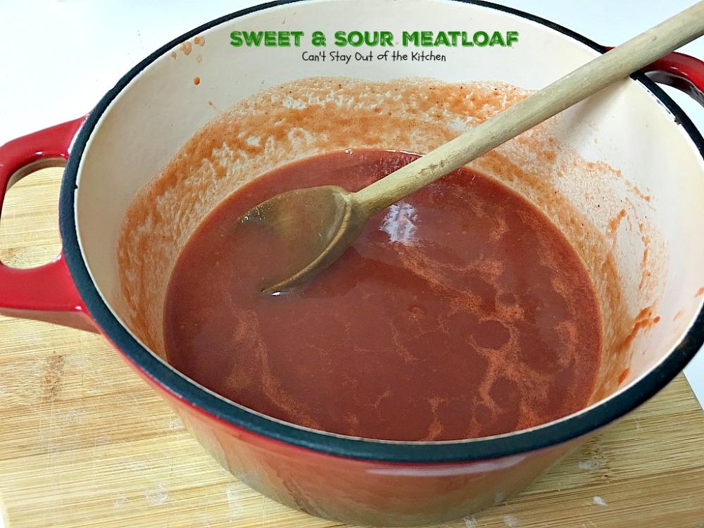 Meatloaf Sauce Brown Sugar