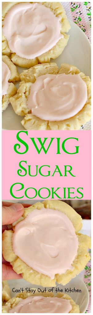 Swig Sugar Cookies | Can't Stay Out of the Kitchen | these #cookies are absolutely divine! One of the BEST you'll ever eat. Great for #holiday baking. #dessert