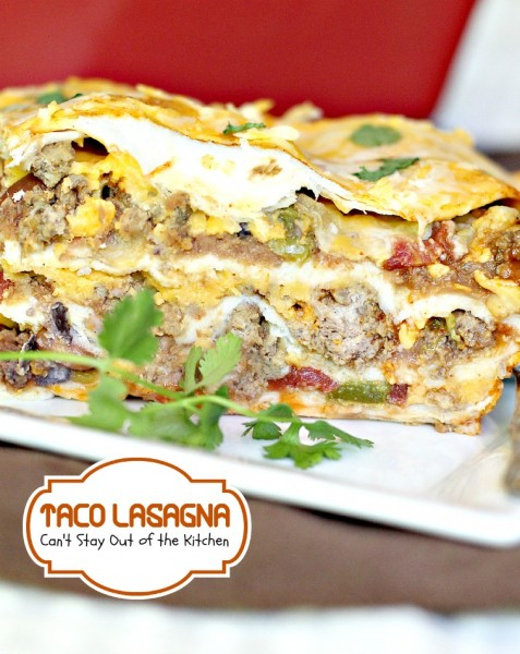 Taco Lasagna | Can't Stay Out of the Kitchen | this wonderful #Tex-Mex ...