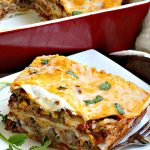 Taco Lasagna   Can't Stay Out of the Kitchen   spectacular #TexMex entree with a #beef, bean & #cheese filling. Fabulous company dinner.