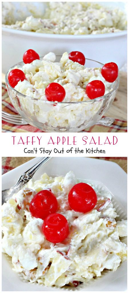 Taffy Apple Salad | Can't Stay Out of the Kitchen
