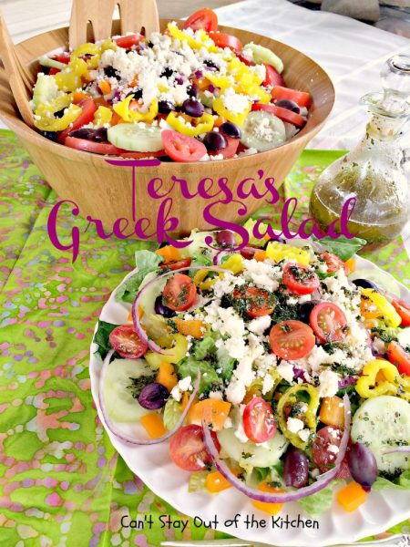 Teresa's Greek Salad | Can't Stay Out of the Kitchen