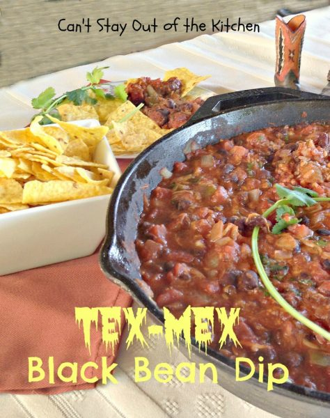 Tex-Mex Black Bean Dip | Can't Stay Out of the Kitchen