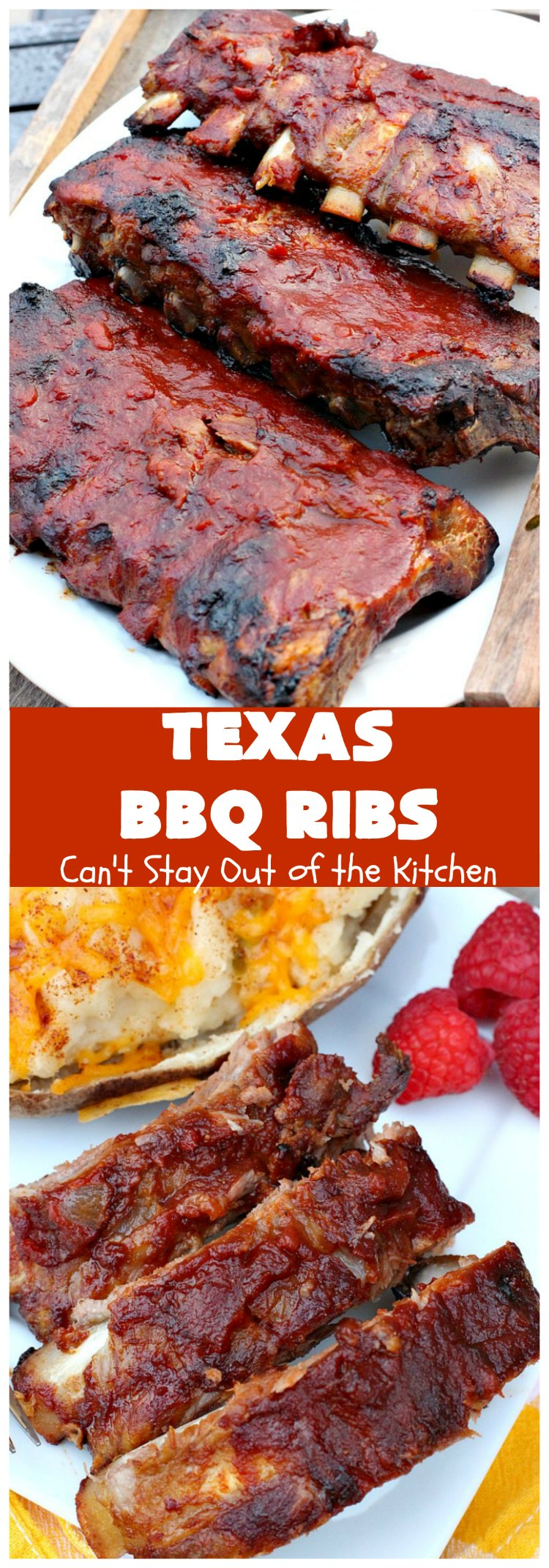 Texas BBQ Ribs | Can't Stay Out of the Kitchen