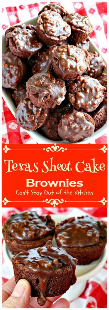 Texas Sheet Cake Brownies | Can't Stay Out of the Kitchen