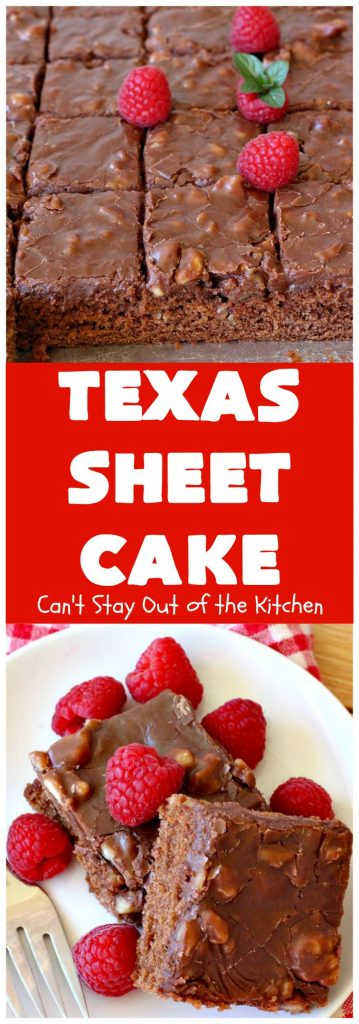 Texas Sheet Cake | Can't Stay Out of the Kitchen