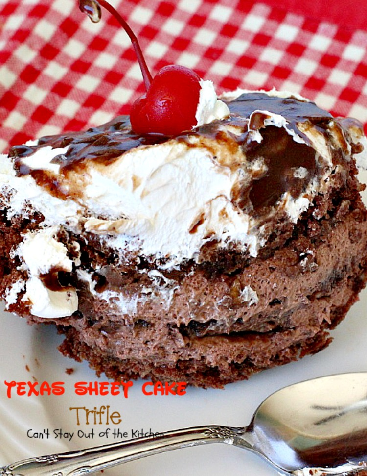 Texas Sheet Cake Trifle Cant Stay Out of the Kitchen