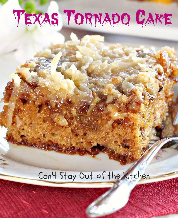 Easy Texas Tornado Cake