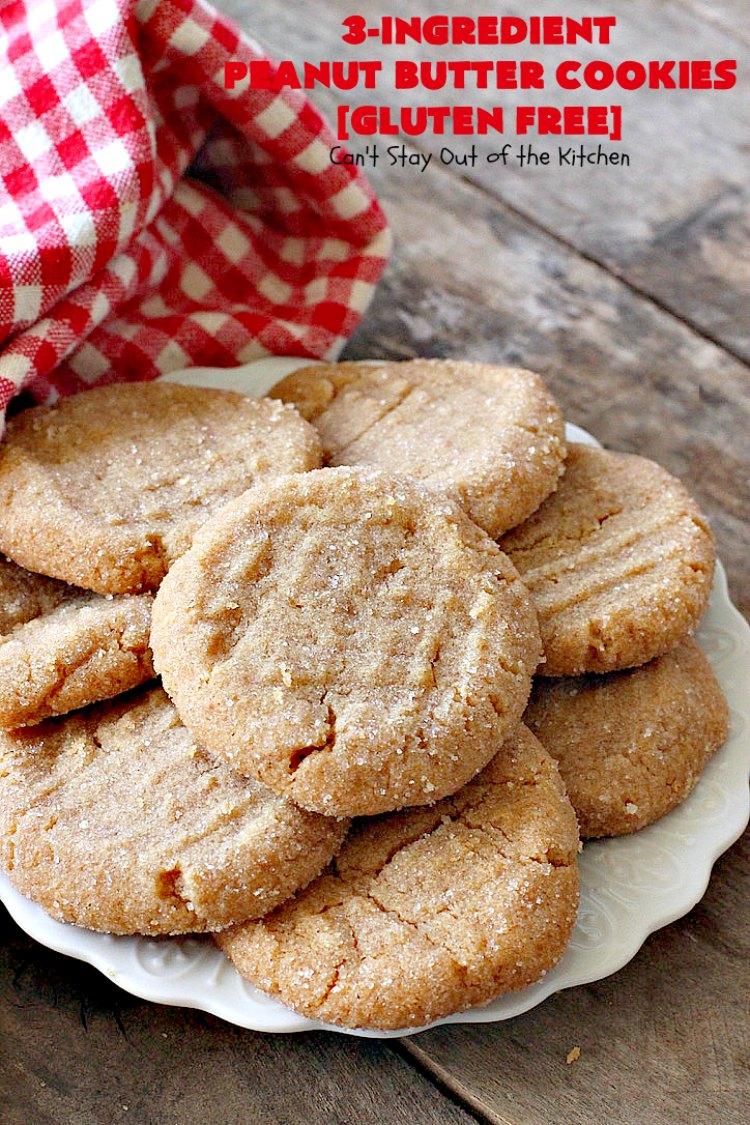 Three Ingredient Peanut Butter Cookies Can T Stay Out Of The Kitchen