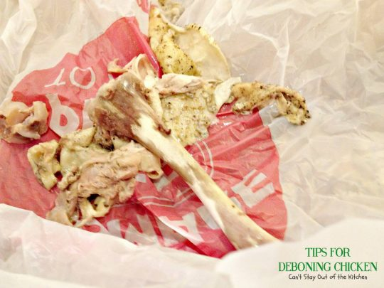 Tips For Deboning Chicken | Can't Stay Out of the Kitchen | Great #cookingtips on #deboningchicken and making #homemade #chickenbroth. #chicken #glutenfree