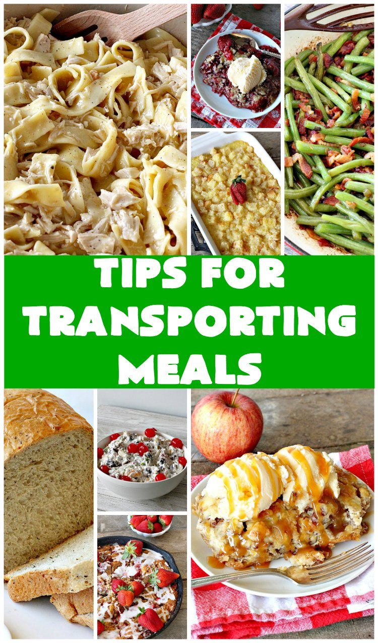 Tips for Transporting Meals | Can't Stay Out of the Kitchen | easy ways and #tips to make taking #meals to others easier on yourself & your recipient! #food #transportingmeals