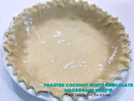 Toasted Coconut White Chocolate Macadamia Nut Pie | Can't Stay Out of the Kitchen | this heavenly #pie is rich, decadent & glorious! Every bite will have you drooling & wanting more. Perfect #dessert for #holiday #baking & parties. #coconut #MacadamiaNuts #chocolate #NewYearsDay #Christmas #HolidayDessert #WhiteChocolateChips#ToastedCoconutWhiteChocolateMacadamiaNutPie