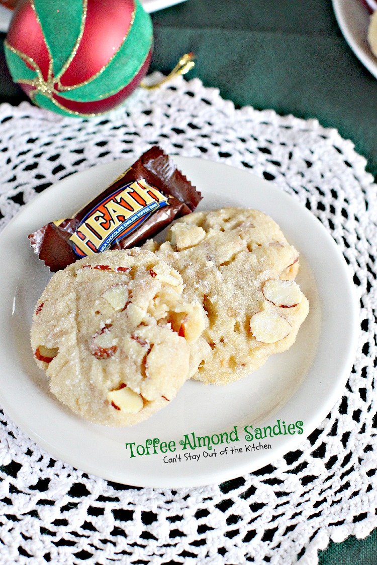 Toffee Almond Sandies - Can\'t Stay Out of the Kitchen