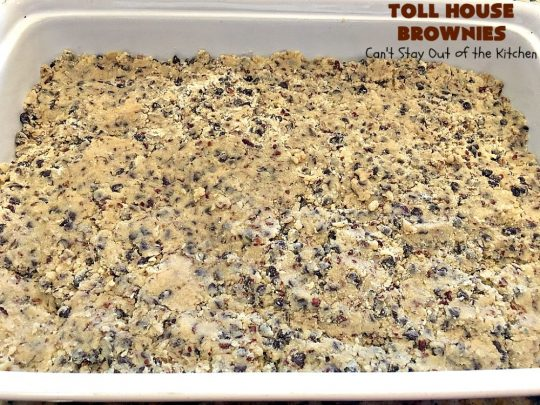 Toll House Brownies | Can't Stay Out of the Kitchen | this scrumptious #dessert takes the best of #TollHouse #cookies & puts them in #brownie form. Then a #chocolate icing is drizzled over top. Absolutely mouthwatering. #tailgating
