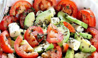 Tomato Avocado Mozzarella Salad