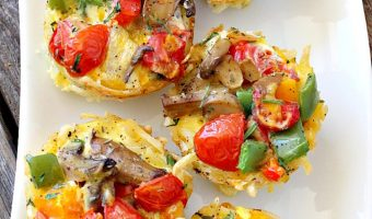 Tomato Mushroom Breakfast Muffins