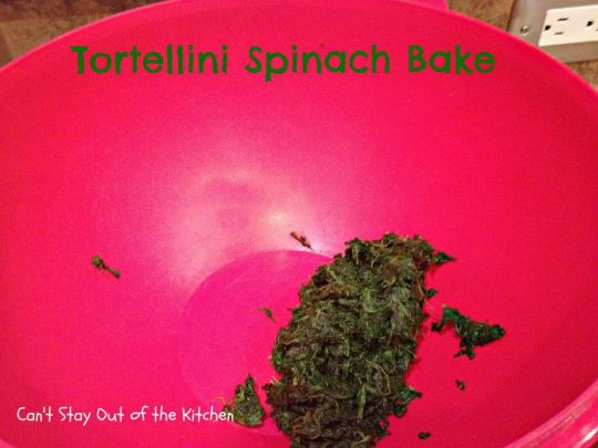 Tortellini Spinach Bake - Recipe Pix 15 112