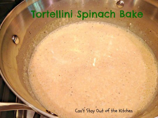 Tortellini Spinach Bake - Recipe Pix 15 126