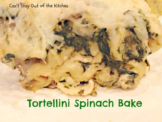 Tortellini Spinach Bake - Recipe Pix 15 267