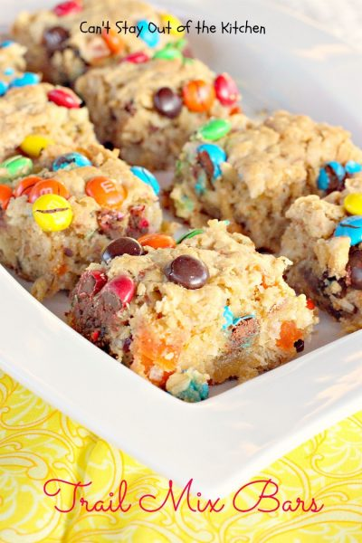 Trail Mix Bars | Can't Stay Out of the Kitchen