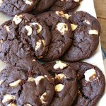 Triple Fudge White Chocolate Cookies   Can't Stay Out of the Kitchen   these fantastic #cookies have only 4 ingredients! They start with a #TripleFudgeCakeMix that includes #ChocolateChips, #cocoa & #ChocolateLiquor. Add #WhiteChocolateChips & you have a #recipe made in heaven! They will cure any sweet tooth craving or #chocolate desire you have! #dessert #fudge #ChocolateDessert #FudgeDessert #tailgating