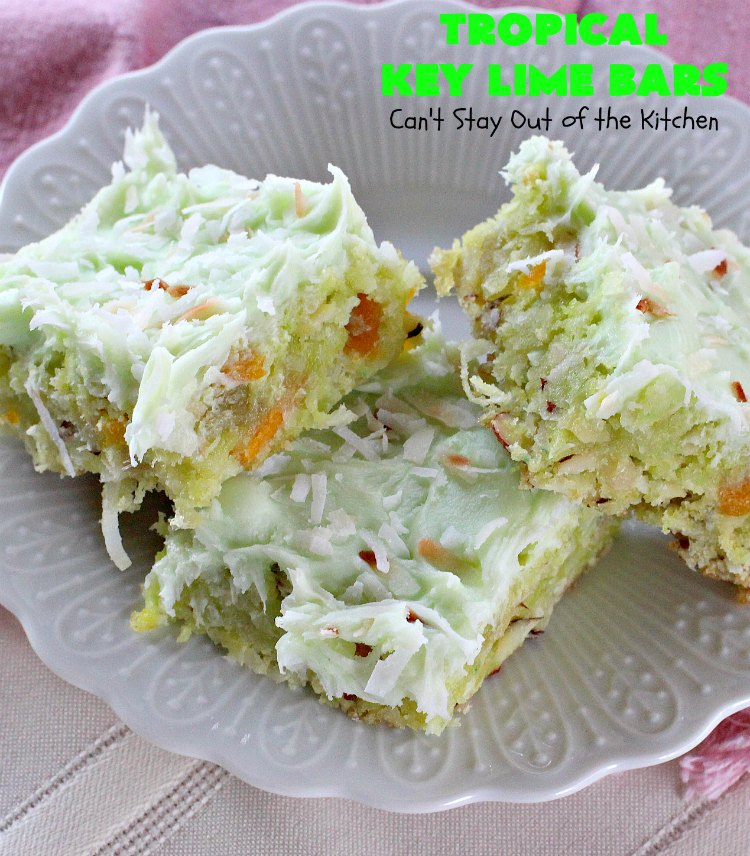 Tropical Key Lime Bars