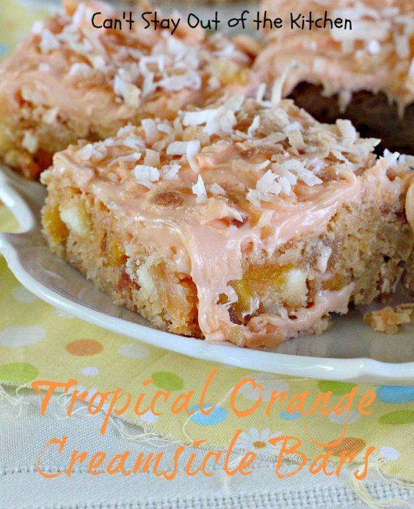 Chocolate Coconut Creams Dunmore Candy Kitchen: Tropical Orange Creamsicle Bars