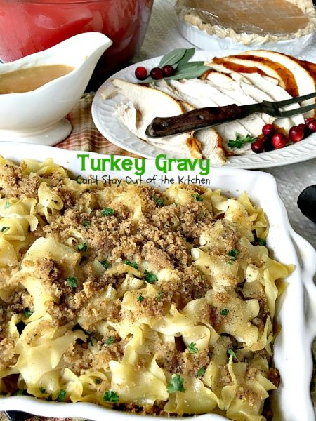Turkey Gravy | Can't Stay Out of the Kitchen | Step-by-step directions and pictures for preparing the BEST #turkey #gravy ever!