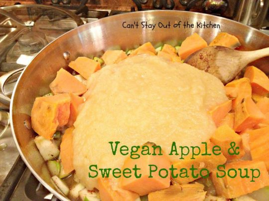 Vegan Apple and Sweet Potato Soup - Recipe Pix 15 393