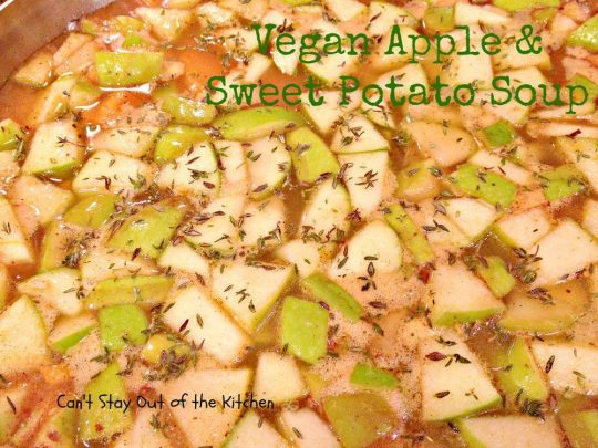 Vegan Apple and Sweet Potato Soup - Recipe Pix 15 397