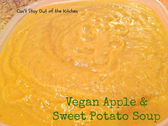 Vegan Apple and Sweet Potato Soup - Recipe Pix 15 440