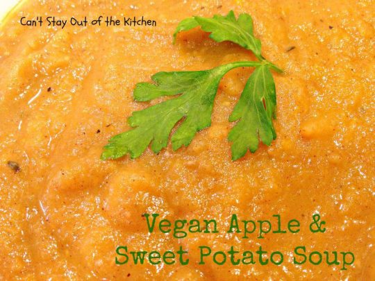 Vegan Apple and Sweet Potato Soup - Recipe Pix 15 458