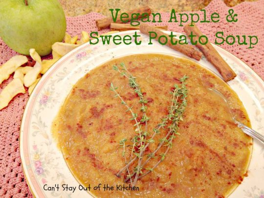 Vegan Apple and Sweet Potato Soup - Recipe Pix 15 462