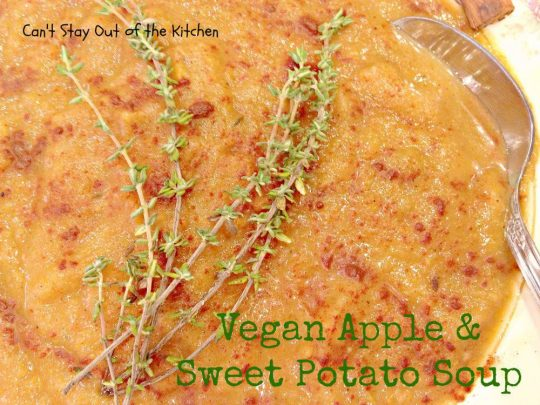 Vegan Apple and Sweet Potato Soup - Recipe Pix 15 470